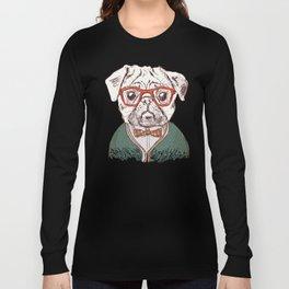 Hipster pug Long Sleeve T-shirt
