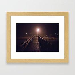 Foggy Footbridge Framed Art Print