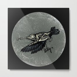 Hummingbird Skeleton: Skeletal Anatomy, Position 2 Metal Print