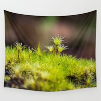 moss Wall Tapestries featuring Moss. by Michelle McConnell