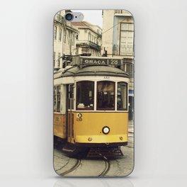 Tram numero 28 iPhone Skin