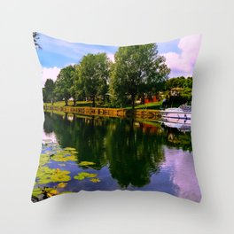 River Perspective. Throw Pillow