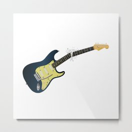 Clean Guitar Neck Break Metal Print