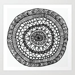 the maze. Art Print