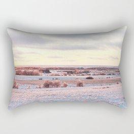 Sunset on ice Rectangular Pillow