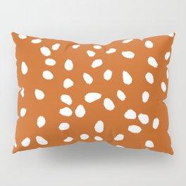 Tiny Leaf Pattern Rust Pillow Sham