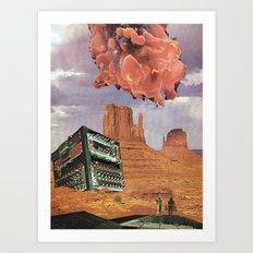 Monument Valley, 2120 A. D. Art Print