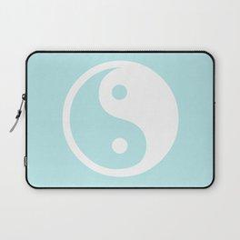 Turquoise Aqua Blue Harmony Yin Yang Laptop Sleeve