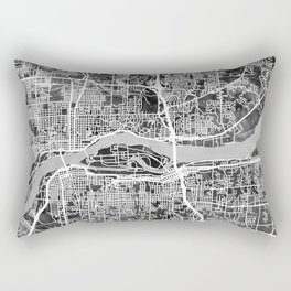 Quad Cities Street Map Rectangular Pillow