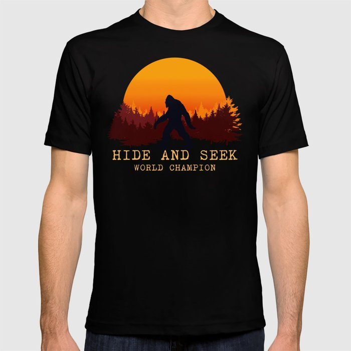 811c38c280ad Bigfoot - Hide and Seek World Champion T-shirt by greennatural ...