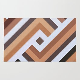 Geometric Art with Bands 07 Rug