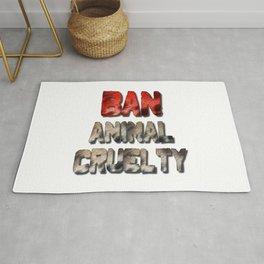 Ban Animal Cruelty Rug
