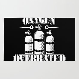 Oxygen is overrated - Funny swim gifts Rug
