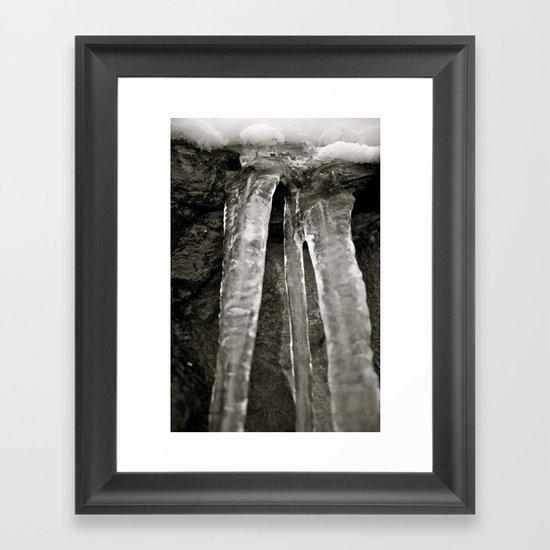 Sandstone and Ice Framed Art Print
