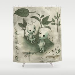 Natural Histories - Forest Spirit studies Shower Curtain