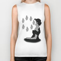 mask Biker Tanks featuring Mask by Inbeeswax