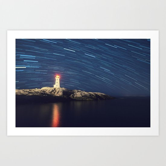 Spinning over the Lighthouse Art Print