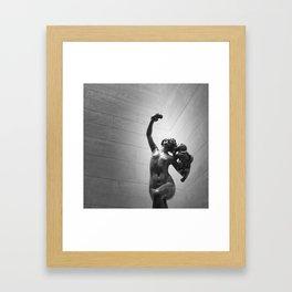 She Stood Framed Art Print