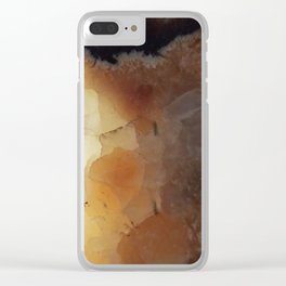 Close up abstract of a sedimentary rock Clear iPhone Case
