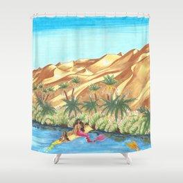 A Mermaid Oasis Shower Curtain
