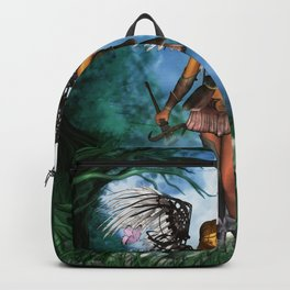 Fairy with wings and butterflies Backpack