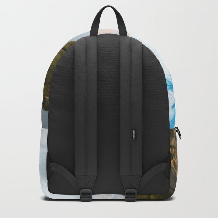Elven with cute sleeping baby Backpack