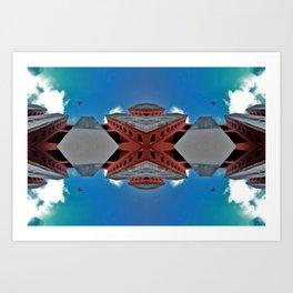 Hexagonal Troubles Art Print