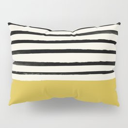 Mustard Yellow & Stripes Pillow Sham