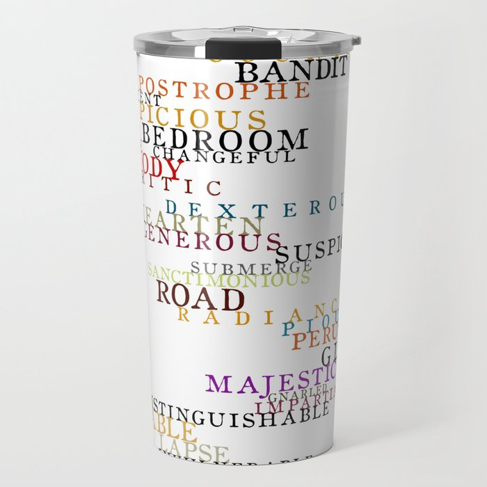 Word Inventions William Shakespeare Quote Art - Typography Travel Mug