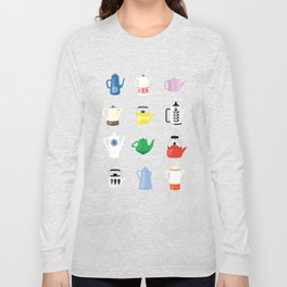 Retro Teapots Long Sleeve T-shirt