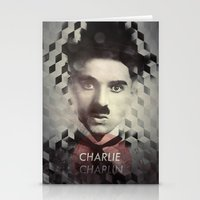 charlie chaplin Stationery Cards featuring Charlie Chaplin by Mahdi Chowdhury