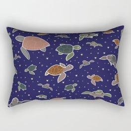 Sea Turtles at Night Rectangular Pillow