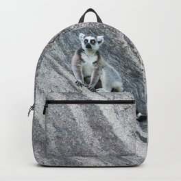 Bright eyes in a black and white world Backpack