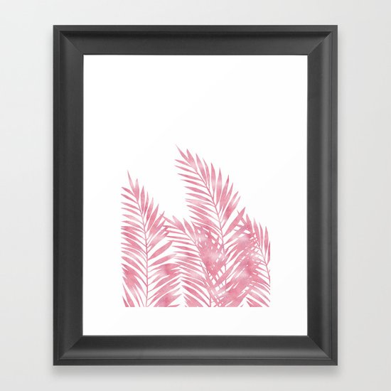 Palm Leaves Pink by lavieclaire