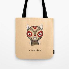 Cat Wrestler Tote Bag