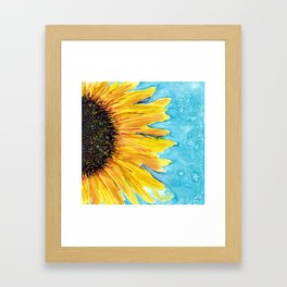 Sunshine And Rain Framed Art Print