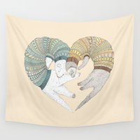 sleep Wall Tapestries featuring Love Sleep by Ruta13