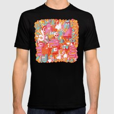 ABSTRACT 0017 Black Mens Fitted Tee MEDIUM