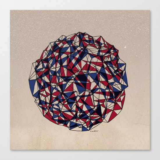 - red blue - Canvas Print