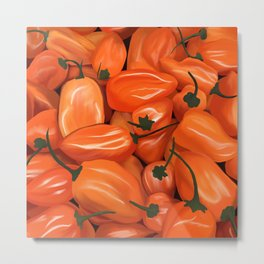 Habanero Peppers Metal Print