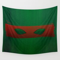 tmnt Wall Tapestries featuring TMNT Raph by Some_Designs