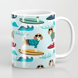Beagle surfing pattern cute pet gifts dog lovers beagles Coffee Mug