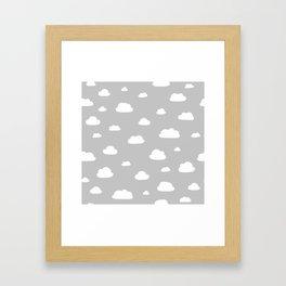 little clouds Framed Art Print