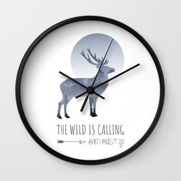 Quote The Wild is Calling Wall Clock