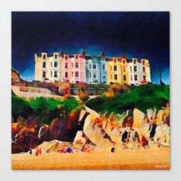 Tenby Esplanade Canvas Print