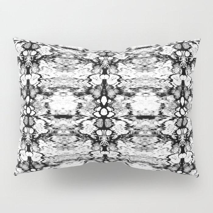 Modern Bohemian Black and White Pattern Pillow Sham