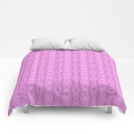 Pink Metallic Gossamer Web Digital Art Comforters