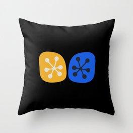 Midcentury Modern Mini Yin Yang Update Throw Pillow