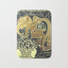 Art Nouveau Vintage Poster by Koloman Moser for the 5th Exhibition of the Wiender Secession Bath Mat