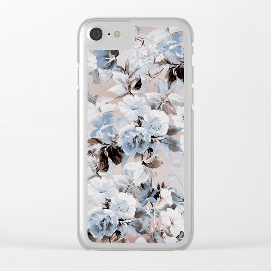 FLORAL PATTERN 10 Clear iPhone Case